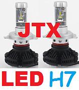 1 pr H7 JTX LED Globes Bulbs 12v 24v 6000 Lumen 50w