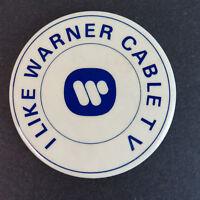 "1980's I Like Warner Cable TV 3"" Pinback Button - Vintage Time"