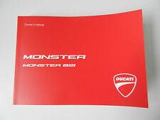 Ducati Monster 821 Bedienungsanleitung Handbuch English Owner´s Manuel Buch Engl