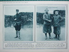 1915 WWI WW1 PRINT ~ RE-CLOTHING FRENCH ARMY ZOUAVE OFFICER'S NEW UNIFORM