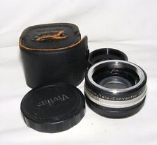 VIVITAR 2X-1 AUTO TELECONVERTER LENS FOR PENTAX M42 WITH COVERS CASE PHOTOGRAPHY