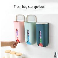 Garbage Bag Dispenser Box Plastic Wall-mounted Organizer Kitchen Storage Holder