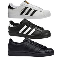 ADIDAS ORIGINALS SUPERSTAR FOUNDATION TRAINERS BLACK/WHITE/ALL BLACK  MENS SIZE