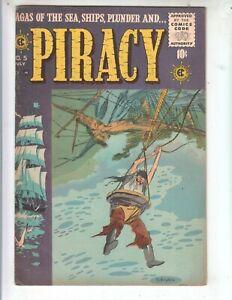 Piracy 5 FVF (7.0) 7/56 EC! Evans, Ingels, Krigstein artwork! Krigstein cover!