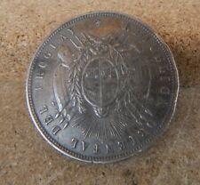 1877 moneda de 1 Peso De Uruguay De Plata Hecho En Broche 25 Gr