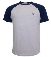 Lyle and Scott Raglan Ringer T Shirt Small Mens Grey Golden Eagle REF*75