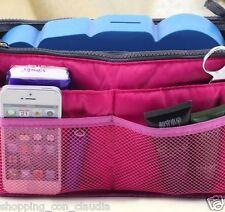 Borsa multi tasche BAG in BAG oggetti make up viaggio divisore organizer fuxia