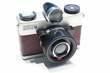 Fujipet medium format film camera Japanese classic RED Burgundy TESTED WORKING
