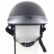 German Style Motorcycle Half Helmet Open Face DOT Cruiser Chopper Cap L