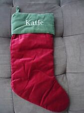 "Pottery Barn Christmas Stocking ""Katie"""