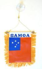 Western Samoa Mini Banner Flag Car & Home Window Mirror Hanging 2 Sided
