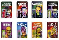 8 Classic Universal Monsters ReAction Figures Frankenstein Dracula Mummy Wolfman