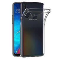 Handy Case Samsung Galaxy A20s Hülle Transparent Schutz Tasche Handyhülle Cover