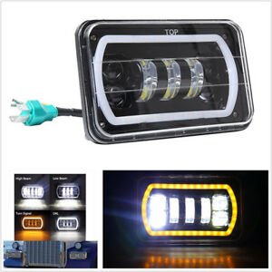 "4X6"" Square LED Headlight Reflector Sealed Hi/Low Beam For Car Truck 4X4 Offroad"