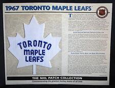 1967 TORONTO MAPLE LEAFS Willabee Ward NHL THROWBACK HOCKEY TEAM LOGO PATCH Card