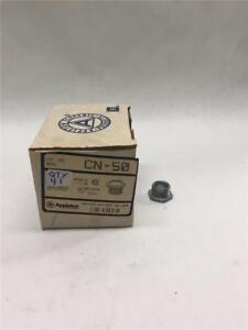 "Appleton CN-50 1/2"" Zinc Bushed Nipple (Box of 41)"