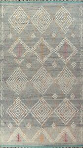 Geometric Moroccan Oriental Area Rug Hand-knotted Wool 10x16 ft Oversize Carpet