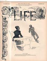 1899 Life April 27 - Teddy Roosevelt; Arthur Conan Doyle; Samoa up for grabs