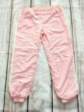 Vintage Pink Shell Suit Trousers Ski Cuffed Fully Lined 80s 90s W42 L29