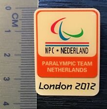 pin Olympic Games London 2012. year paralympic team Netherlands (421.)