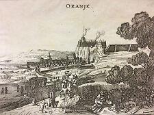 Orange Vaucluse gravure du XVIIe Oranje Provence anonyme principauté d'Orange