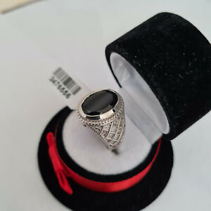 Stunning Boi Ploi Black Spinel ring in platinum over sterling silver