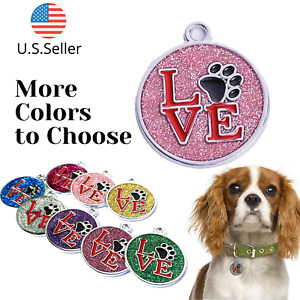Buy 4 Get 1 Free √ LOVE Dog Tags Pet Tag Cat Tag Name ID Engraved Personalized