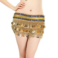 Sexy Halloween Costume Hip Scarf Belly Dance Performance Belt Sequined Velvet