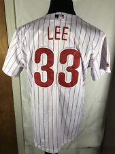 Majestic Phillies Lee 33 MLB Genuine Merchandise Jeweled Jersey Women's XL