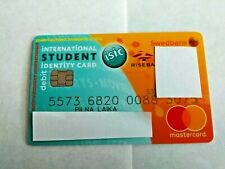 Swedbank Student ISIC Debit Plastic Master Cards For Collectors