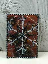 """ACEO Artist Trading Card """"Christmas Snowflakes Decorations"""" Artist Hand Made"""