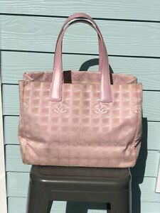 CC134 CHANEL Pink New Travel Line Nylon Large Tote Bag  NO RESERVE