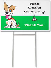 Mr. Pen- No Pooping Dog Signs for Yard, Yard Signs, Pick Up Your Dog Poop Dog