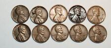 Lincoln Wheat Cent Penny - Lot of 10 Coins - Mixed Dates: 1941 - 1957 (lot# 41)