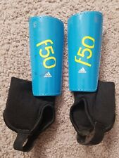adidas F50 Youth Shin Guard Athletic Soccer Shinguards - Blue - Boys