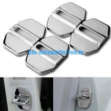PM 4PCS 304 Steel Anti-rust Door Lock Cover Trim New for Mercedes W204 W212 W166