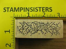 Rubber Stamp Doodle Lines and Dots Border by Magenta Stampinsisters #3995