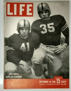 1946 SEPTEMBER 16 LIFE MAGAZINE-WEST POINT'S GLEN DAVIS & FELIX BLANCHARD -L 514
