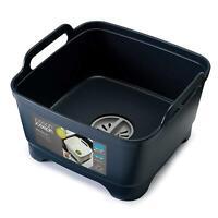 Joseph Joseph Wash & Drain Strain Washing Up Sink Bowl w/ Removeable Plug - Grey