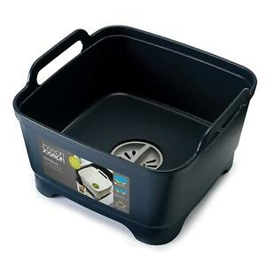 Joseph Joseph Wash & Drain Strain Washing Up Sink Bowl w/ Removeable Plug - Grey