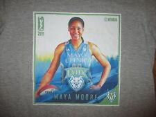 MAYA MOORE MINNESOTA LYNX T SHIRT Basketball WNBA Fanatics Gray WOMEN'S LARGE