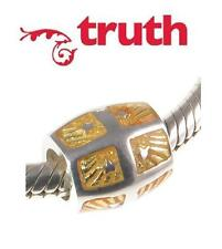 Genuine TRUTH PK 925 sterling silver ORANGE ENAMEL STAR charm bead