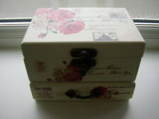 Cute Cream and Pink and Black Jewelry Box NEW