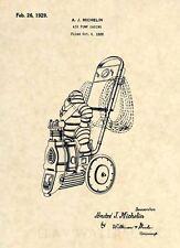 Official Michelin Man Patent Art Print- 1929 Vintage Air Compressor Antique 330