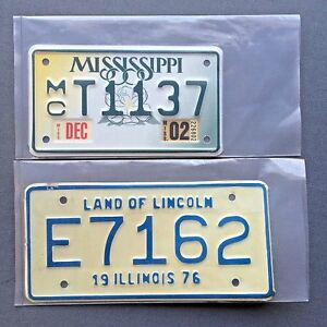 "License Plate Sleeves 5"" x 10"" 4 mil Thick Motorcycle Poly Bags Vtg Tag Storage"