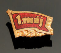 May Day, May 1, Czechoslovakia Communist Vintage Enamel Pin Badge 1950s