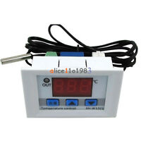 DC 12V Digital LED Temperature Controller Thermostat Control Switch Probe White