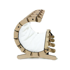 Crescent C-Shaped Bed Pillow Cushion Crib Lounger Cuddler for Dogs & Cats