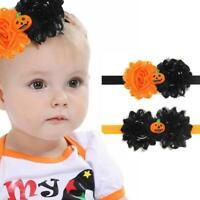 Children Halloween Bow Pumpkin Baby Headband Hair Rope Headwear Cute