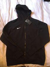 Para hombres Nike Negro Con Capucha (hoodie) Con Cremallera-a Estrenar-Tamaño Grande